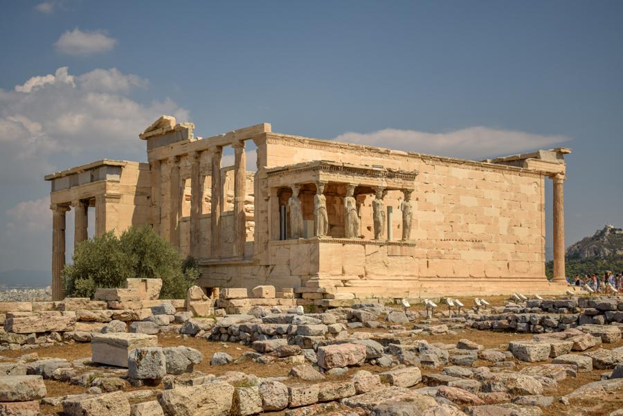 Obiective în Atena - Templul Erehteion