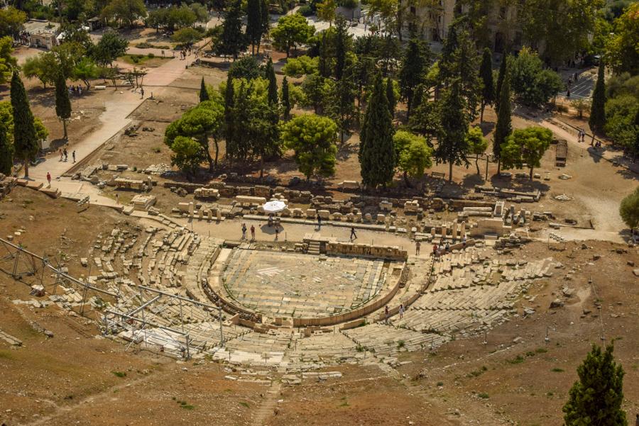 Obiective în Atena - Teatrul lui Dionisos, Acropole