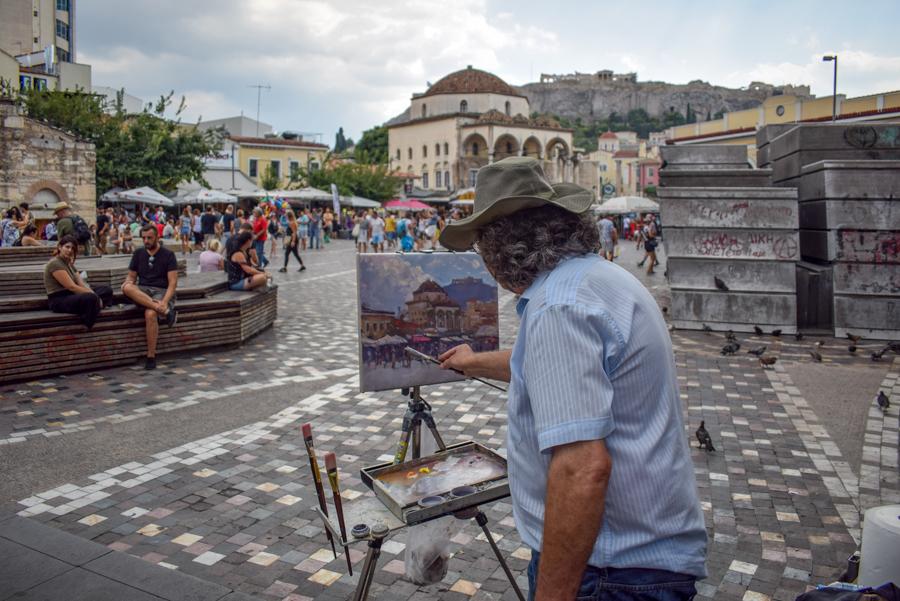 Obiective în Atena - Piața Monastiraki