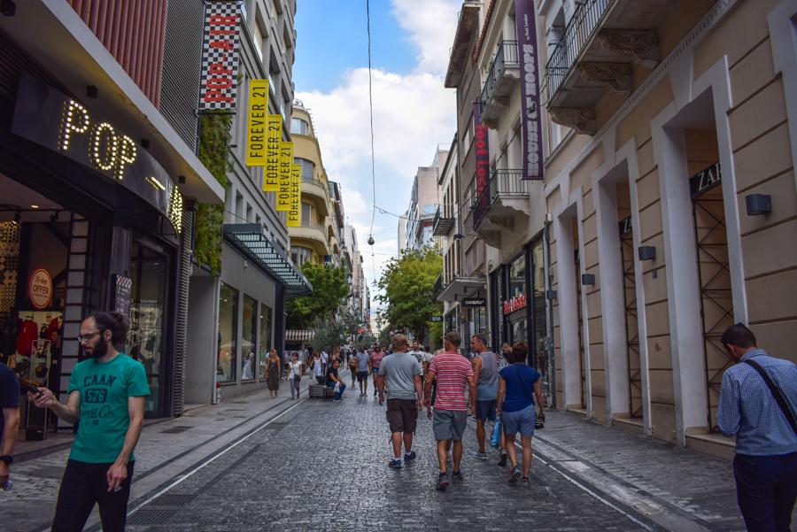 Obiective în Atena - Strada Ermou