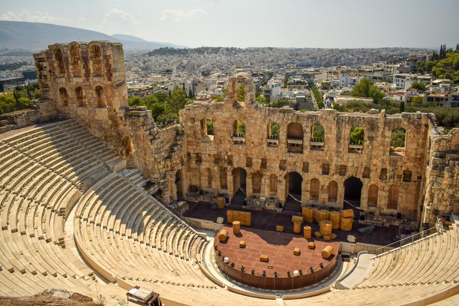 Atena, Grecia - Odeonul lui Herodes Atticus, Acropole