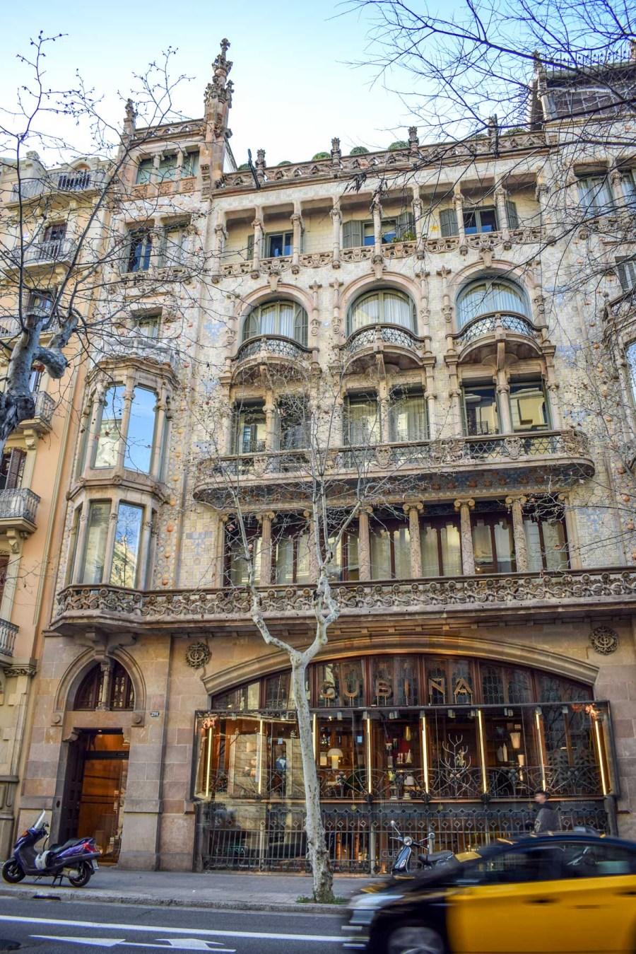 Barcelona lui Domènech i Montaner - Casa Thomas