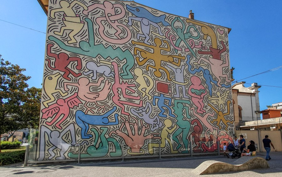 Tuttomondo by Keith Harring, Pisa, Italia