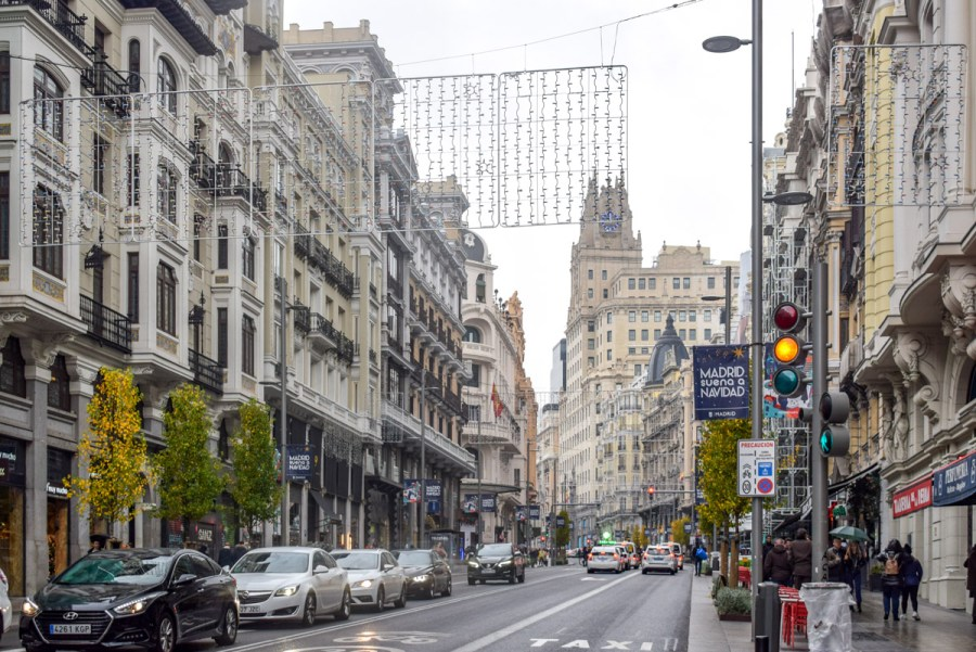 Gran Via, Obiective din Madrid