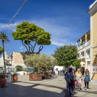 În orașul Anacapri, insula Capri