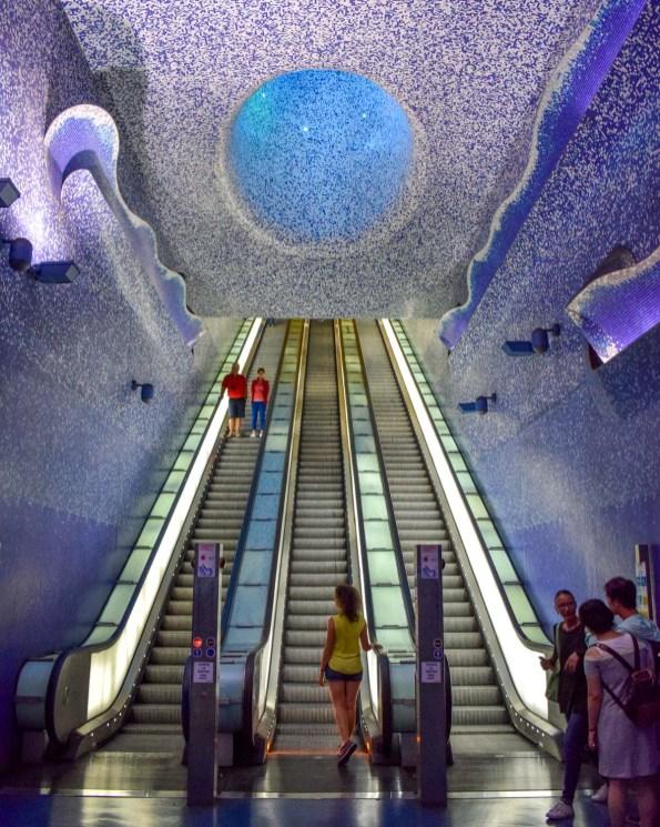 Stația de metrou Toledo din Napoli
