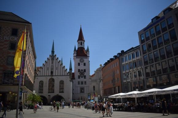 Marienplatz, Munchen - fotografie originală