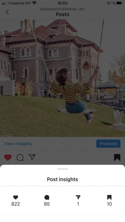 Cum să îți crești contul de Instagram - Statistici postare