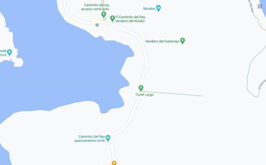 Caminito del Rey entrance map