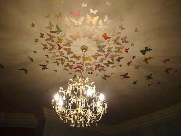 Kattokoriste, kattokruunu, perhoset