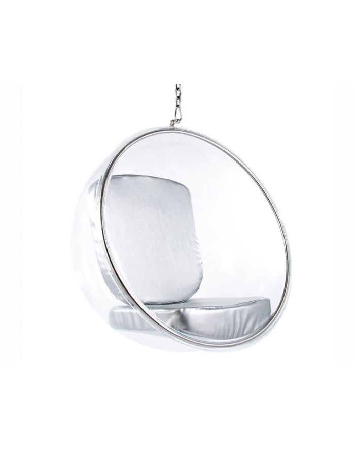 eero aarnio bubble chair recovering lawn chairs hanging with silver cushions designer furniture ltd