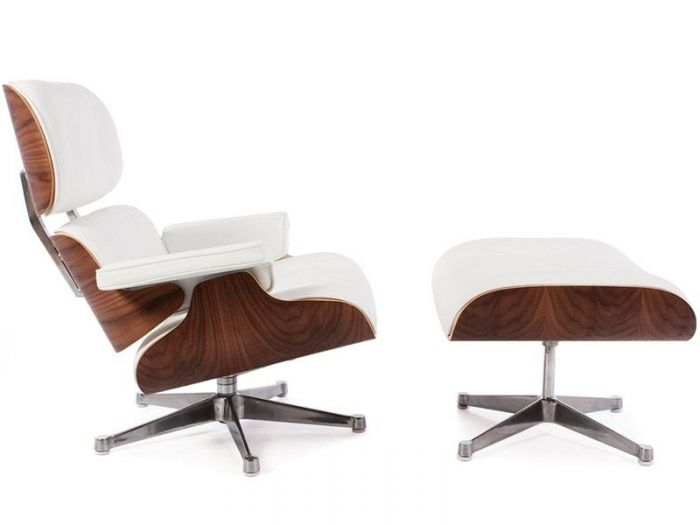 eames chair white sunbrella chaise lounge cushions reproduction leather armchair and footstool designer walnut special edition