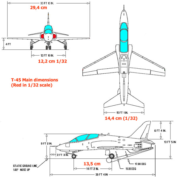 general aviation scale diagram wiring sub panel to main t 45 goshawk in 1 32 the real aircraft dimensions were used up kit drawing working drawings