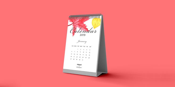 三角桌曆印刷