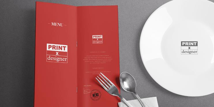 彩色騎馬釘菜單型錄印刷設計