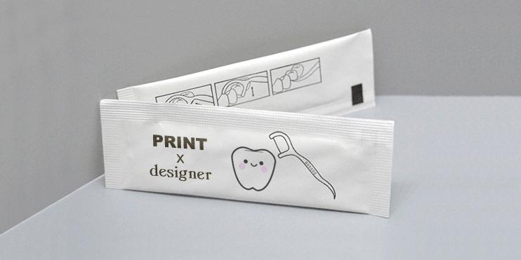 廣告牙線包印刷設計