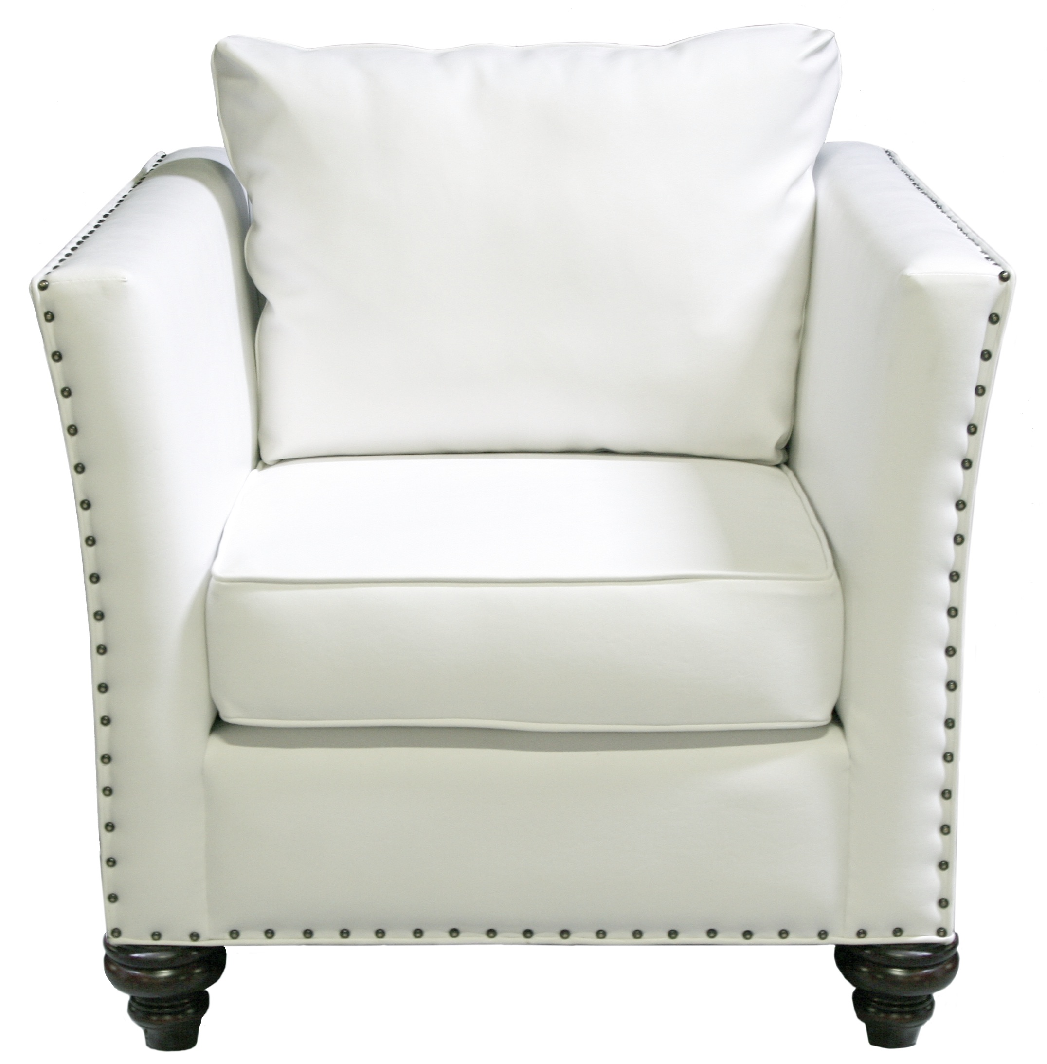 White Leather Chairs Nailhead Chair White Leather Designer8