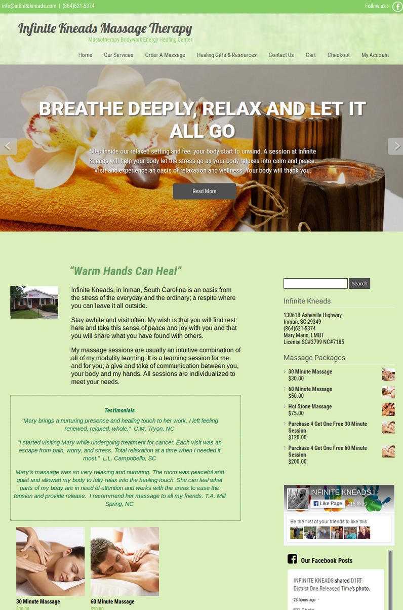 Infinite Kneads Massage Therapy Website