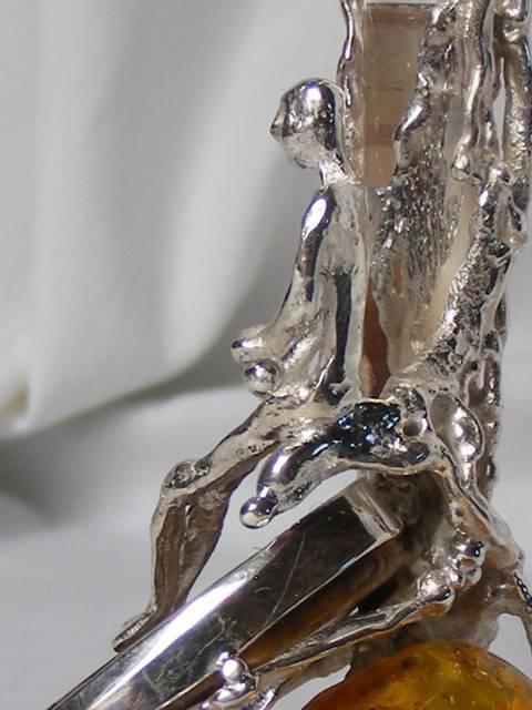 Handgemachte Schmuck mit Ammonit Edelsteinen Glas und Perlen