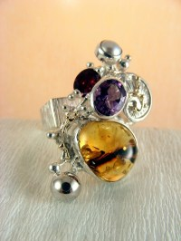 Gregory Pyra Piro Contemporary Rings with Gemstones