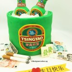 Beer Bucket Cake with Edible Cigarettes, Money & Mahjong