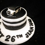 Black and White Themed BMW Car Customized Fondant Cake