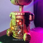 Broken, Smoking Robot Cake With Lights