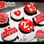 Customized Anniversary Cupcakes