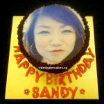 Customized Photo Chocolate Cake