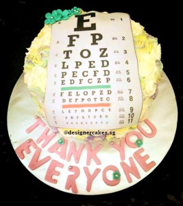 Customized Photo Cream Cake - Optometrist, Eye Doctor, Eye Test Chart.