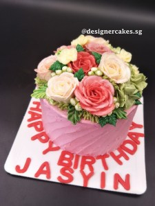 Flower Cake - Butter cream flower cake.