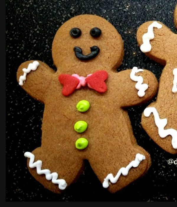 Christmas Gingerbread Man Butter Cookies - Customized Wording Names
