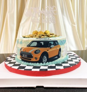 Car Themed Money Pulling Cake 拉钱蛋糕