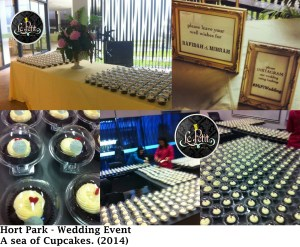 Wedding Event - Hort Park, A Sea of Cup Cakes.