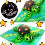 3D Sculpted Customized Turtle Tortoise Fondant Cake