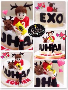 Korean K Pop EXO Figurine Customized Fondant Cake