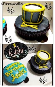 Music Drum Cup Cake