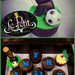 Customized FootBall Soccer Cup Cake Ball