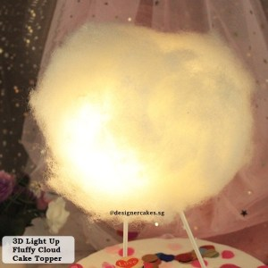 Cake Decorating Supplies - Light Up Cake Topper - 3D Fluffy Cloud