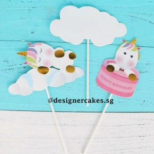 Cake Decorating Supplies - Unicorn Birthday Clouds