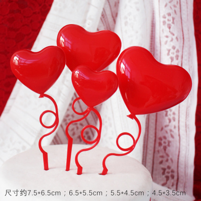 Heart (Plastic) Cake Toppers