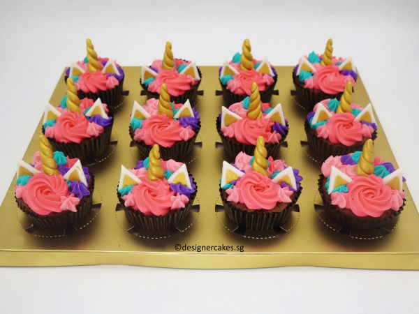 Unicorn Themed [Cream] Cup Cakes