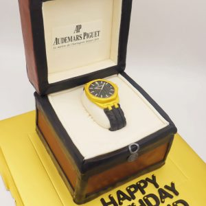 3D Luxury Watch Box Cake