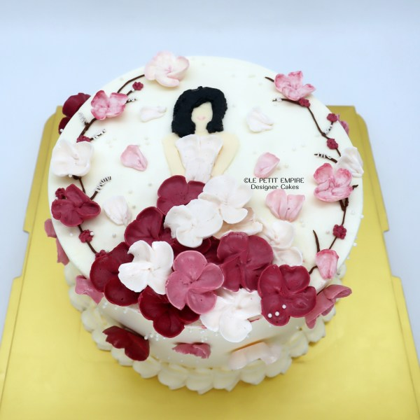 Floral Lady Cake