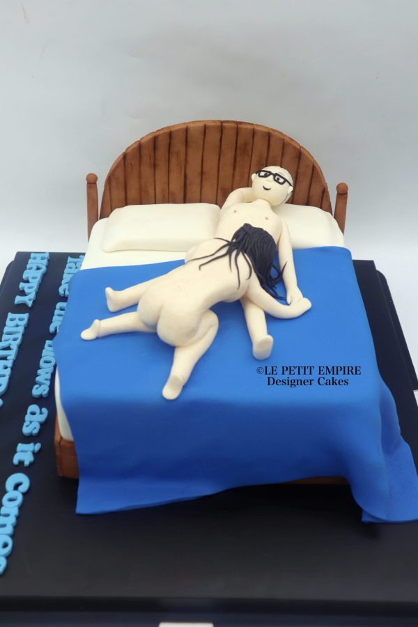Take the Blows 3D Adult Fondant Bed Cake
