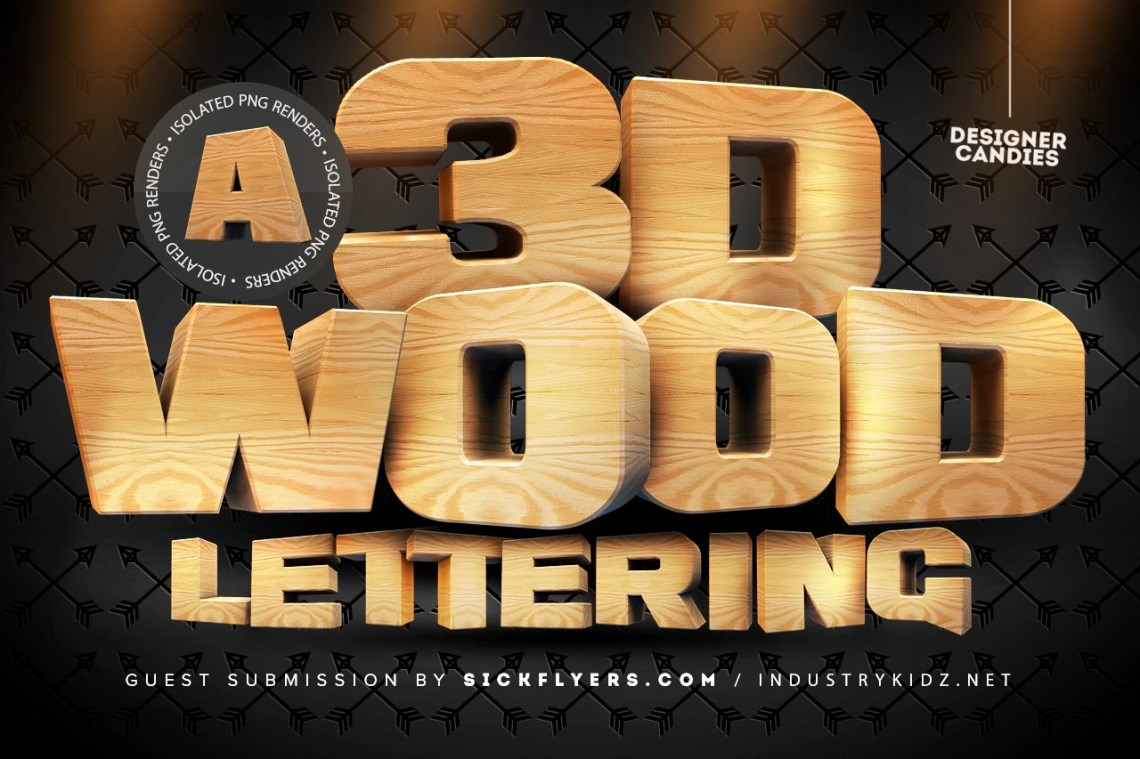Download 3D Wooden Lettering Pack - DesignerCandies