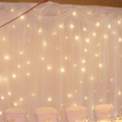 White Wedding Chair Covers Hire Ergonomic Knee Designer To Go Starlight Lighted Backdrop -