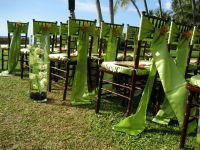 Outdoor Wedding ideas - Designer Chair Covers To Go