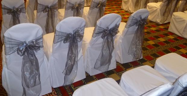Silver Organza Sashes Amp Wedding Chair Covers At Holiday