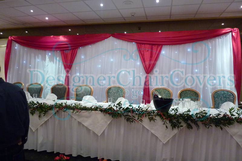 Fairy Light Curtain Draping Designer Chair Covers To Go